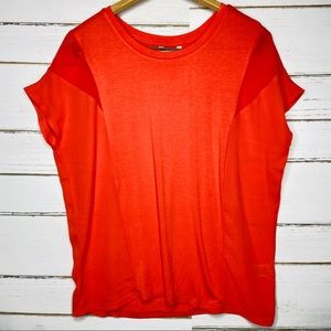 Coral Mixed Media Top S
